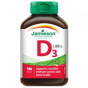 Jamieson D3-vitamin 1000IU tabletta - 100db