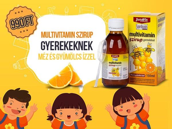 Jutavit Multivitamin szirup gyerekeknek gyümölcsös ízzel és mézzel