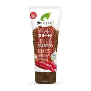 Dr. Organic Haj- és fejbőrstimuláló sampon bio kávéval - 200ml