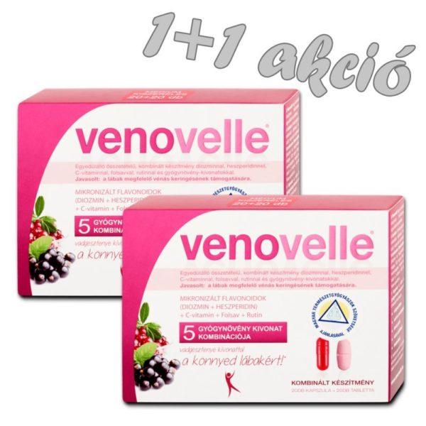 Venovelle 5 - A vénás keringés támogatásáért - 20db tabletta + 20db kapszula