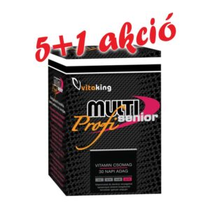 Vitaking Multi Senior Profi multivitamin csomag 5+1 akció - 6x30db