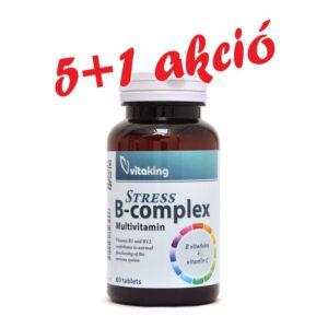 Vitaking Stress B-Complex vitamin tabletta 5+1 akció - 6x60db