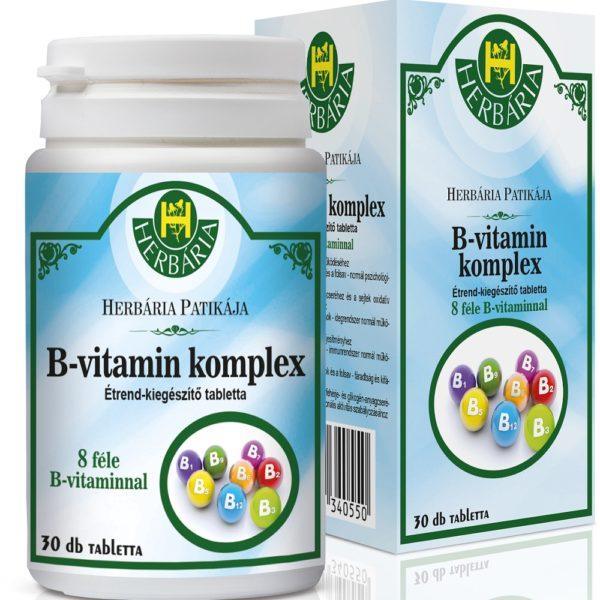 Herbária B-vitamin komplex tabletta - 30db