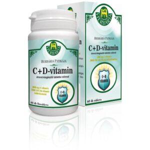 Herbária C-vitamin 1000 mg + D-vitamin 3000 NE tabletta - 60db