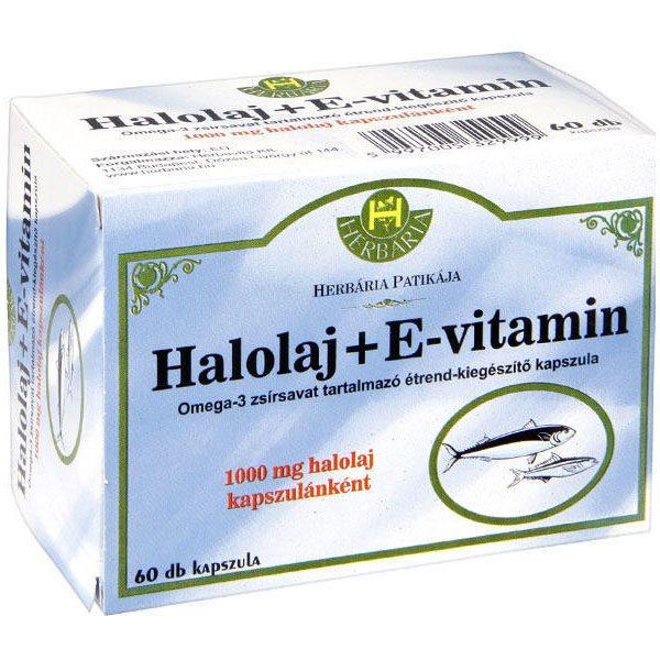 Herbária Halolaj + E-vitamin kapszula - 60db