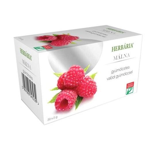 Herbária gyümölcstea málna - 20 filter
