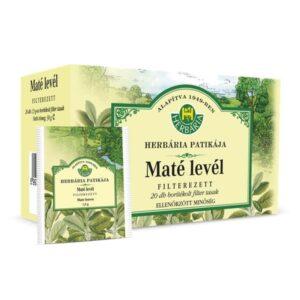 Herbária maté levél tea - 20x1,5g borítékolt filter/doboz