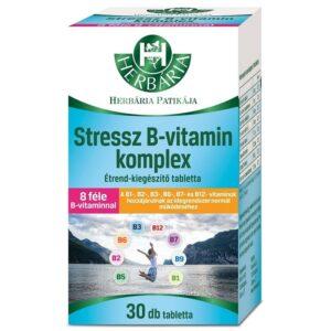 Herbária Stressz B-vitamin komplex tabletta - 30db