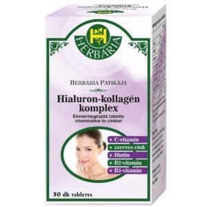 Herbária Hialuron-Kollagén komplex tabletta - 30db