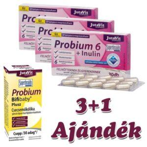 Jutavit Probium 6 + Inulin kapszula 3x30db + Jutavit Probium Bifibaby plusz 8ml - 3x30db+ 8ml