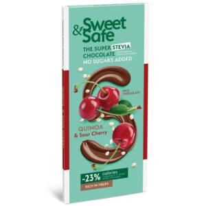Sweet&Safe Tejcsoki steviával quinoa és meggy - 90g