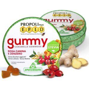 Specchiasol EPID szopogatós gumicukor - propolisz, csipkebogyó, gyömbér - 40g