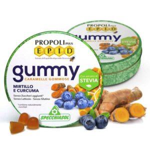 Specchiasol EPID szopogatós gumicukor - propolisz, fekete áfonya, kurkuma - 40g