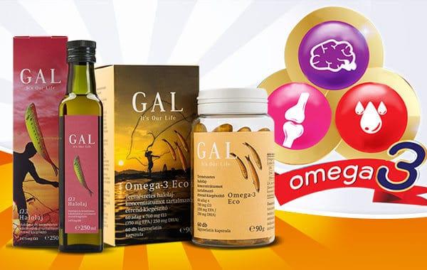 GAL Omega-3 termékek – az agy megfelelő működéséhez