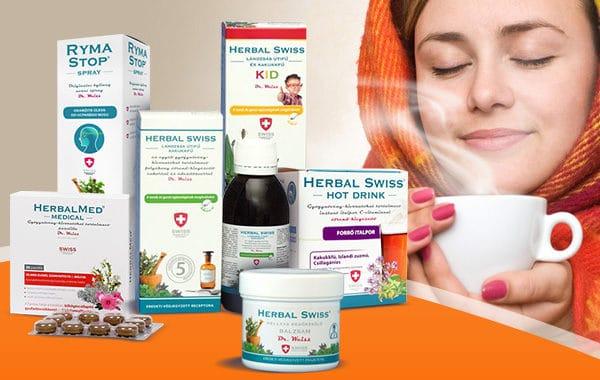 Herbal Swiss – a megfázás és influenza tüneteinek enyhítésére