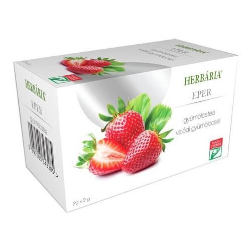 Herbária gyümölcstea eper - 20 filter
