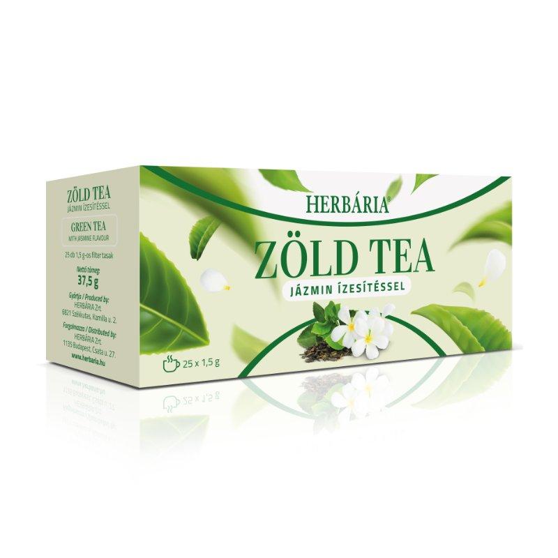 Herbária zöld tea jázmin - 25x1g filter/doboz