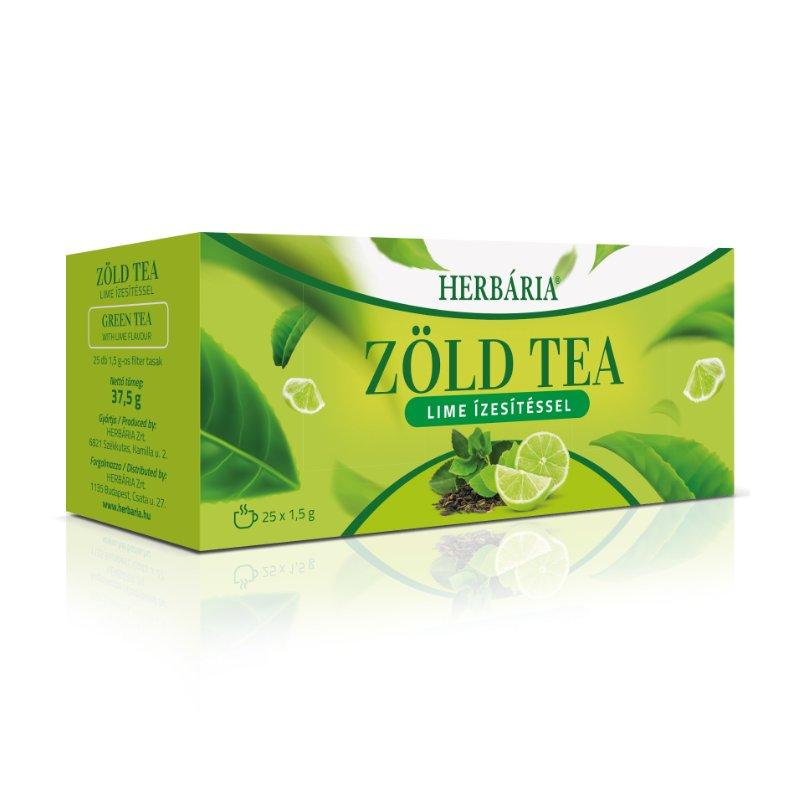 Herbária zöld tea lime - 25x1g filter/doboz