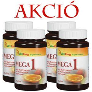 Vitaking Mega-1 Multivitamin 120db (4x30db) tabletta -