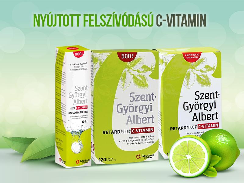 C-vitamin 1000 mg biztosítja a szervezetnek az egész napi folyamatos vitamin szükségletét