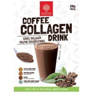 Almitas Kollagén kávés italpor - 210g
