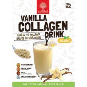 Almitas Kollagén vaníliás italpor - 150g