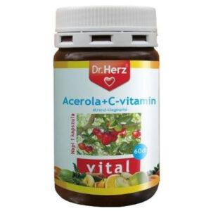 Dr. Herz Acerola+C-vitamin kapszula - 60db