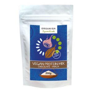 Organiqa 100% bio csokoládé-maca vegán fehérje mix - 200g