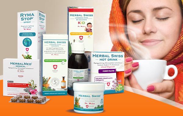 Herbal Swiss termékcsalád - a megfázás hatásos kezelésére