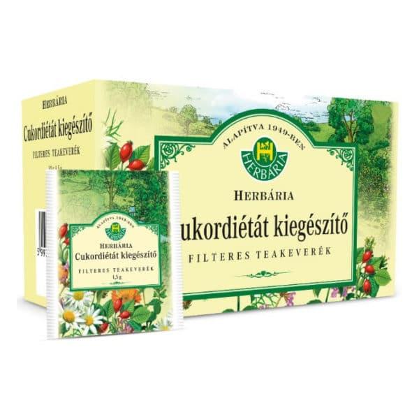 Herbária Cukordiétát kiegészítő teakeverék filteres – 20 filter