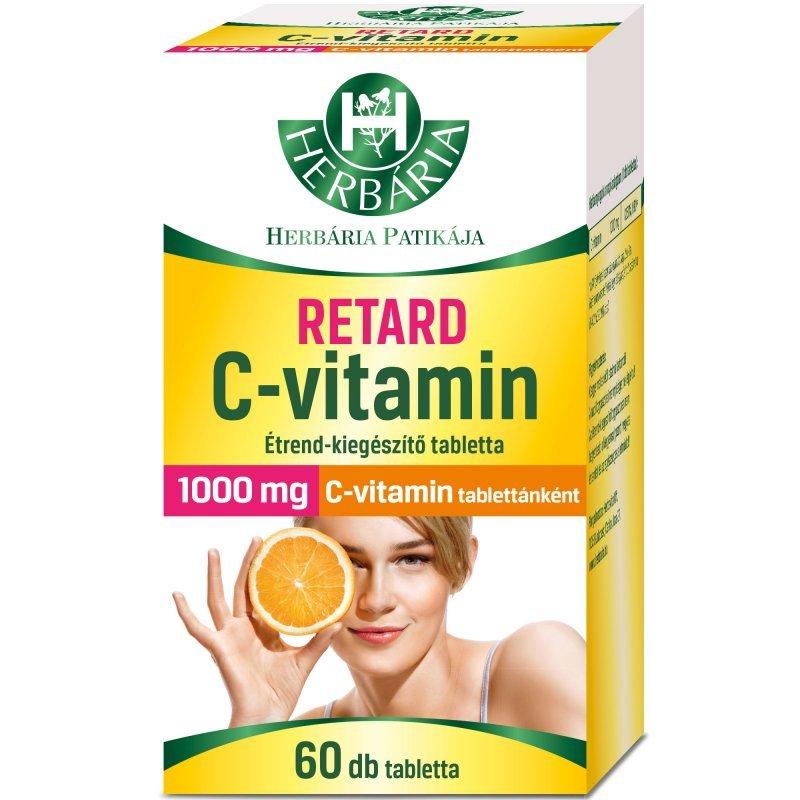 Herbária Retard C-vitamin 1000mg tabletta – 60db