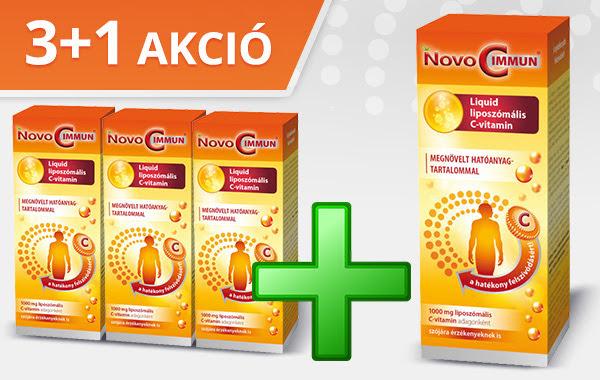 Novo C Immun Liquid 3+1 akció - C-vitamin a szervezet védekezőképességének növeléséhez
