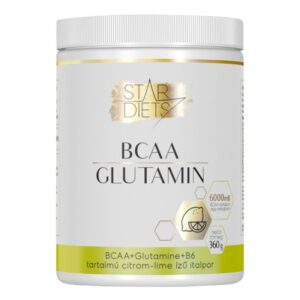 StarDiets BCAA Glutamin B6 Citrom-lime - 360g
