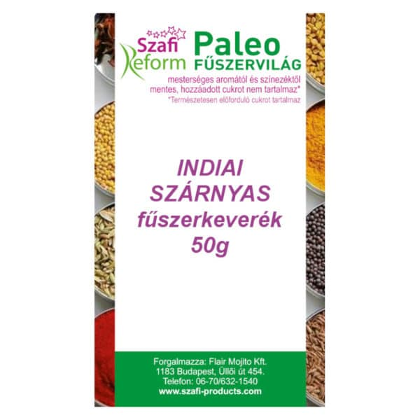 Szafi Reform Indiai szárnyas fűszerkeverék - 50g