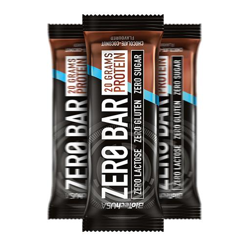 BioTech USA Zero Bar protein szelet csokoládé – kókusz – 50g