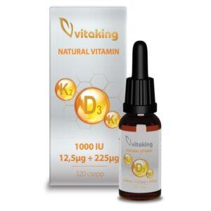 Vitaking D K2 K1 vitamin csepp