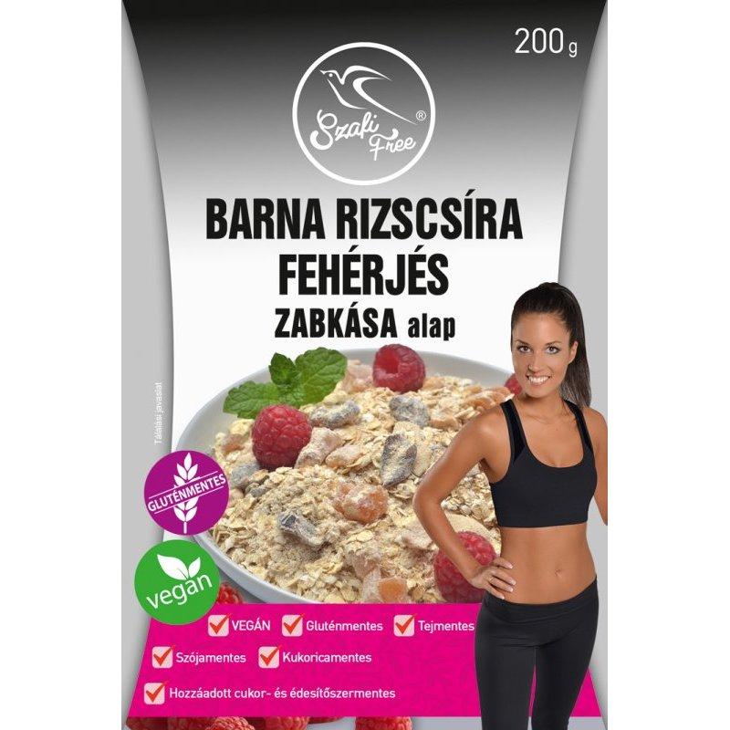 Szafi Free Barna rizscsíra fehérjés zabkása alap – 200g