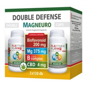 Vita Crystal Double Defense Magneuro Mg + B-complex vitamin + CBD kapszula – 2x120db