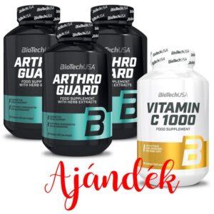 BioTech USA Arthro Guard tabletta 3db + 1db ajándék Biotech C-vitamin 1000mg 100db
