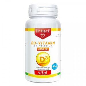 Dr. Herz D3-vitamin 4000 NE lágyzselatin kapszula - 60db