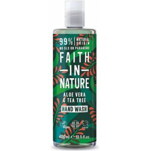 Faith in Nature Aloe vera és teafa folyékony kézmosó – 400ml