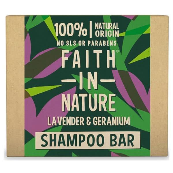 Faith in Nature Sampon Bar – levendula és geránium – 85g