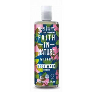 Faith in Nature Vadrózsa tusfürdő – 400ml