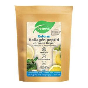 Interherb Benefitt Reform kollagén peptid citrom ízű italpor - 300g