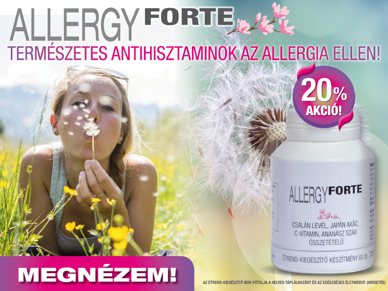 Allergy Forte – használd már az allergiás tünetek megjelenése előtt