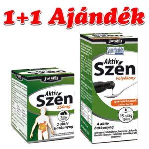jutavit-aktiv-szen-250mg-tabletta-30db-ajandek-jutavit-aktiv-szen-folyekony-gyermekeknek-150ml