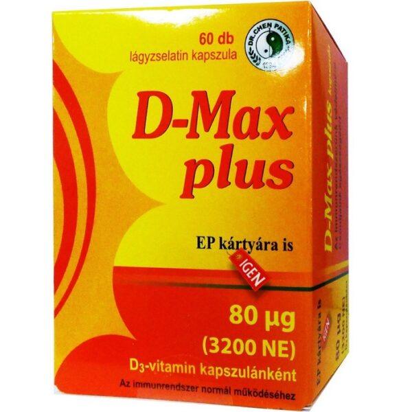 Dr. Chen D-Max plus D3-vitamin 3200NE kapszula - 60db