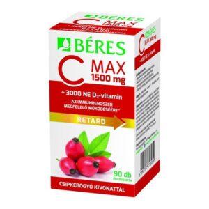 beres-c-max-1500-mg-retard-filmtabletta-csipkebogyo-kivonattal-3000-ne-d3-vitamin-90db