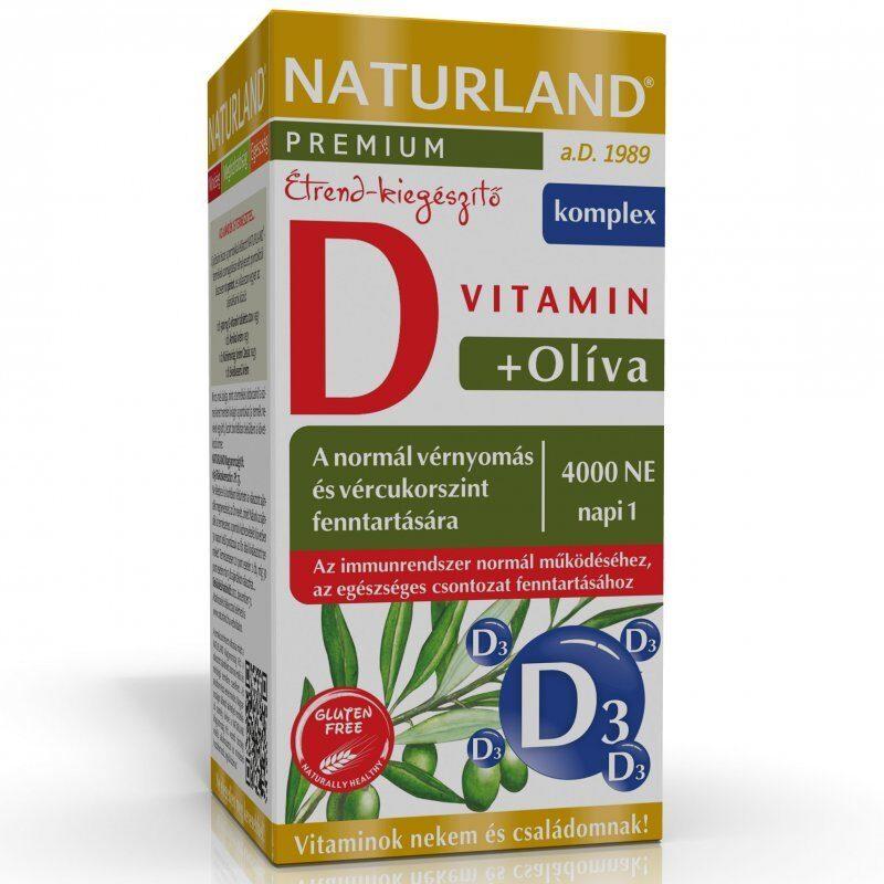 Naturland Olivalevél+D-vitamin 4000NE kapszula - 60db
