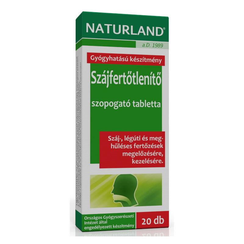 Naturland szájfertőtlenítő tabletta - 20db